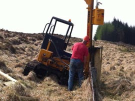 Construction of forestry fencing.